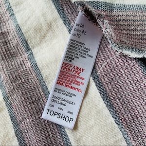 Topshop Tops - Topshop Striped Flannel Long Sleeve Button Down M